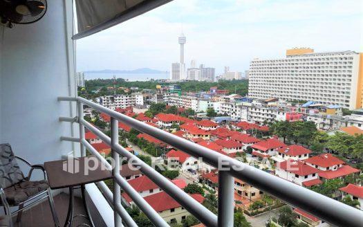 公寓一室公寓房出租 View Talay 2B 中天, Pattaya Bay Real Estate